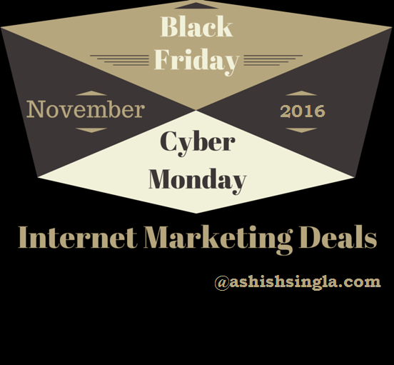 Internet Marketing Deals on Black Friday & Cyber Monday 2016