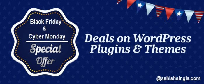 Wordpress Plugins, Themes & Web Design Deals on Black Friday & Cyber Monday 2016