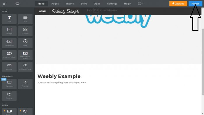 Weebly Web 2.0 Submission Step 8