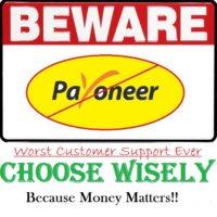 Beware of Payoneer Customer Support