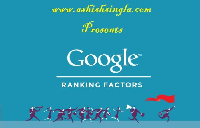 Google Ranking Factors 2016