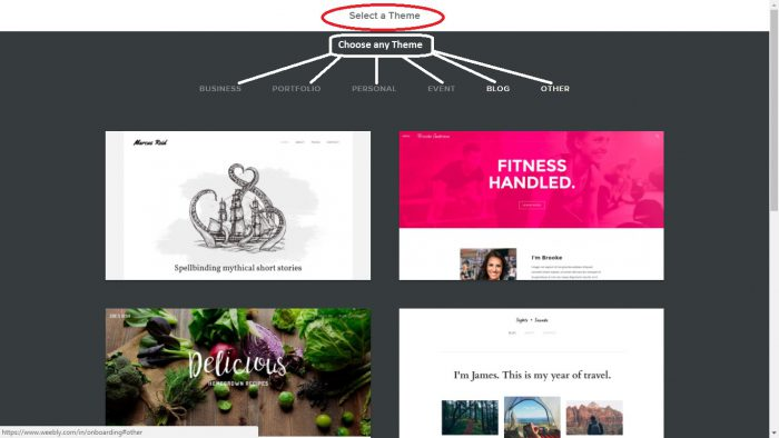 Weebly Web2.0 Submission Step 4