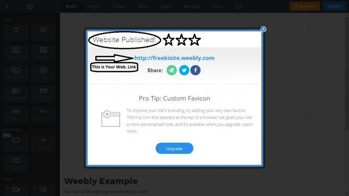 Weebly Web 2.0 Submission Step 11